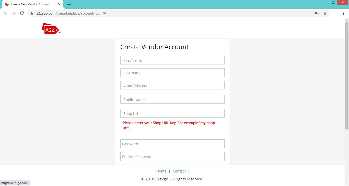 Create Vendor Account Details